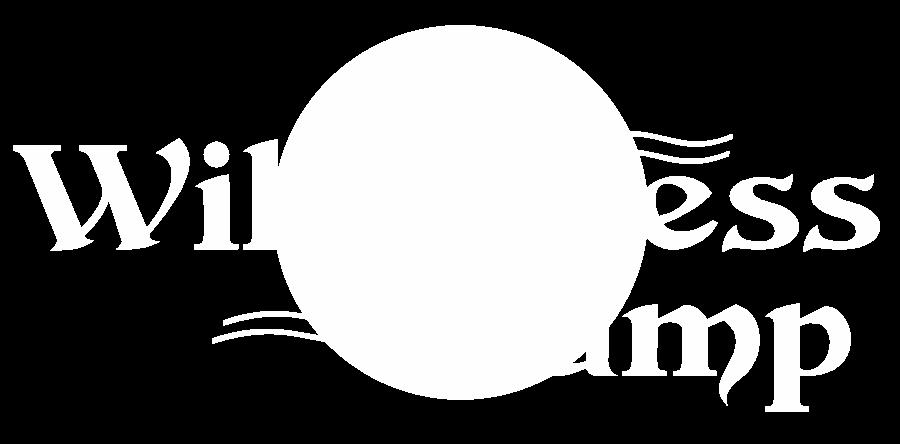 wilderness camp logo white